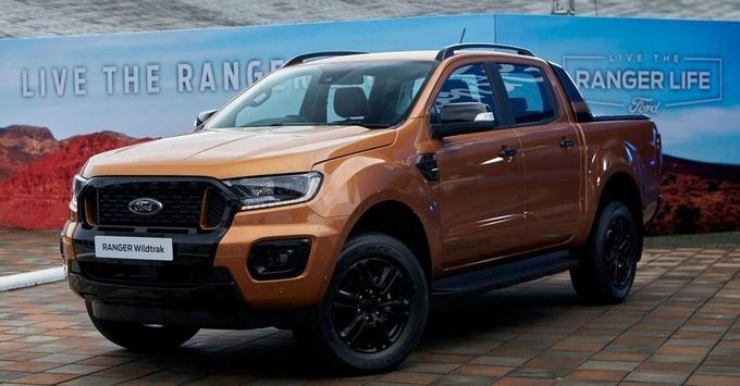 福特小猛禽ranger皮卡出新款!2.0T柴油+10AT,专供泰国市场