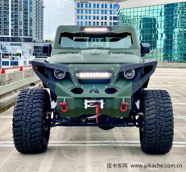 定制Jeep角斗士,凶猛变身V8六驱怪兽,恶魔般的爆改皮卡
