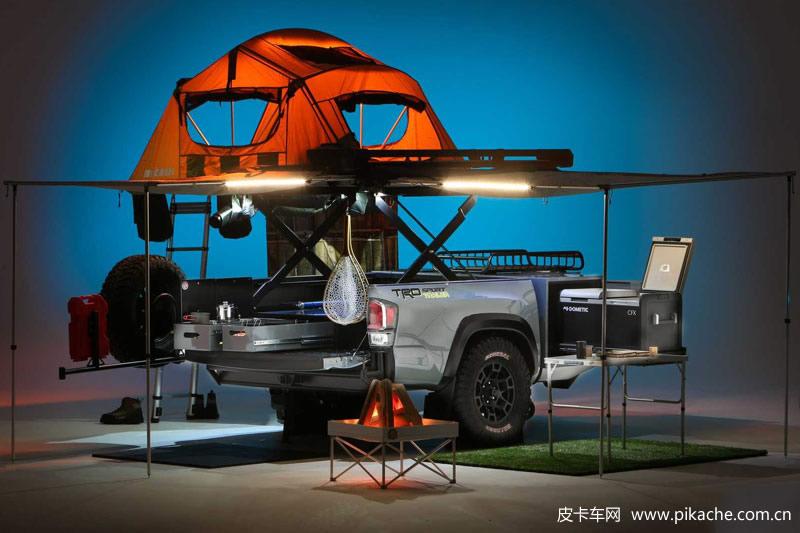 皮卡后斗改装露营房车,可以参考丰田推出的TRD运动型拖车