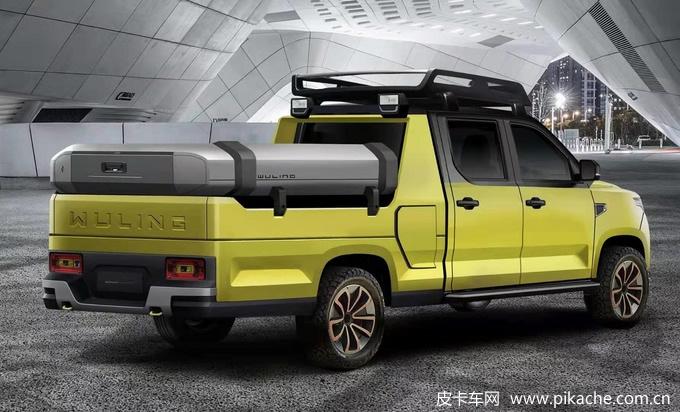 五菱征途全能型皮卡车渲染图曝光,越野、垂钓、露营版全都有