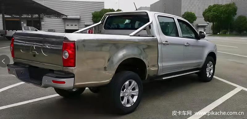江淮帅铃T6皮卡沿海版上市,304不锈钢货箱后斗,满足海鲜运输需求