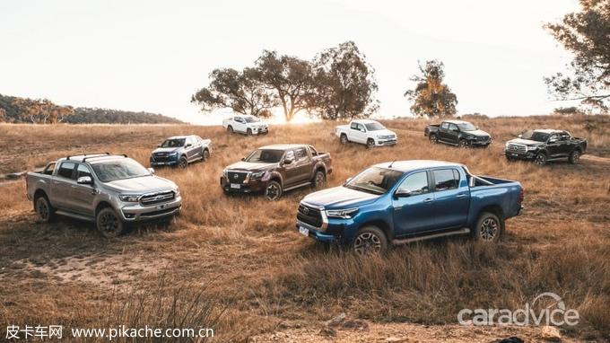 澳洲媒体横评四驱中型皮卡,长城炮皮卡对决福特、丰田皮卡