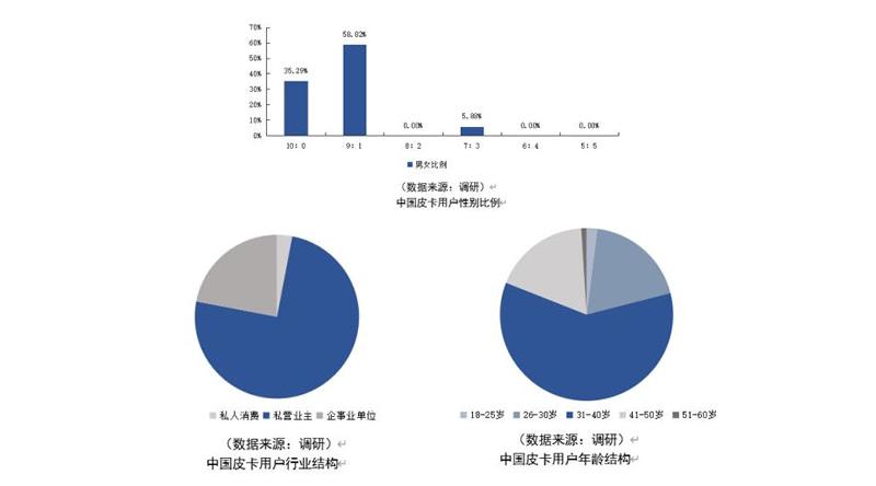 China pickup truck user portrait data, China pickup truck user industry structure analysis