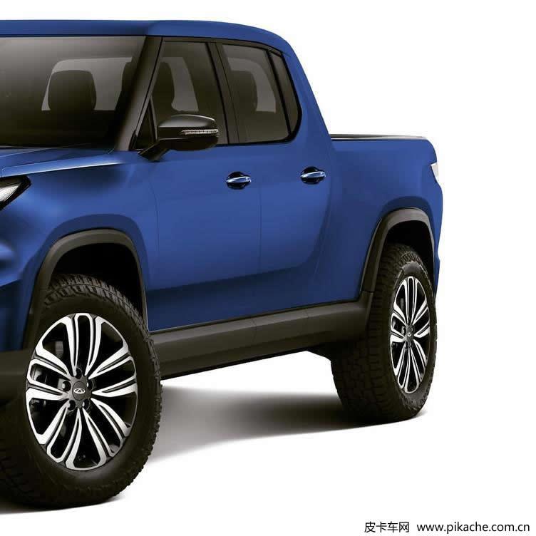 New Chery pickup rendering exposure, based on Ruihu 7 rendering