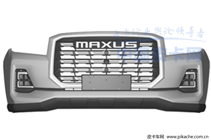 Some patent drawings of SAIC's new pickup truck are exposed, or named T80