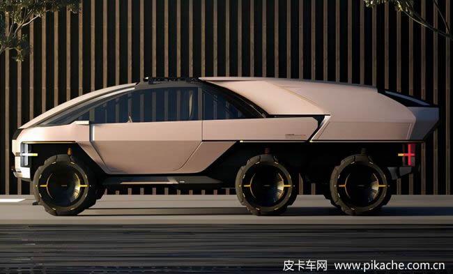 基于CANOO皮卡设计的概念车Anyroad,可车身分离