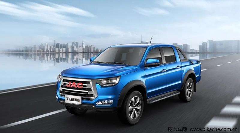 江淮T8皮卡国际版上市,销售价格10.68-12.78万元